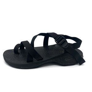 Mens Black Strappy Chaco Sandals Size 8